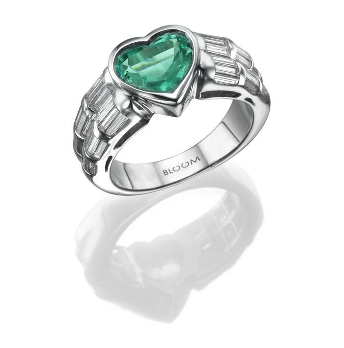 טבעת לב אמרלד, 11,700 שח, להשיג ב- BLOOM רחוב שהם 6 מתחם הבורסה רמת גן, יחצ_resize