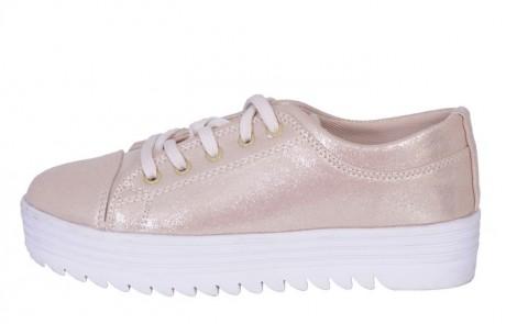 נעלי סניקרס אופנתיות בצבעוניות מטאלית